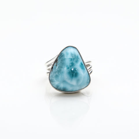Freeform Larimar Ring, Michaela