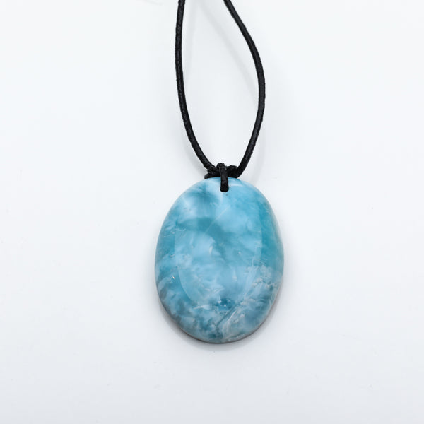Larimar Leather Necklace, Ryland