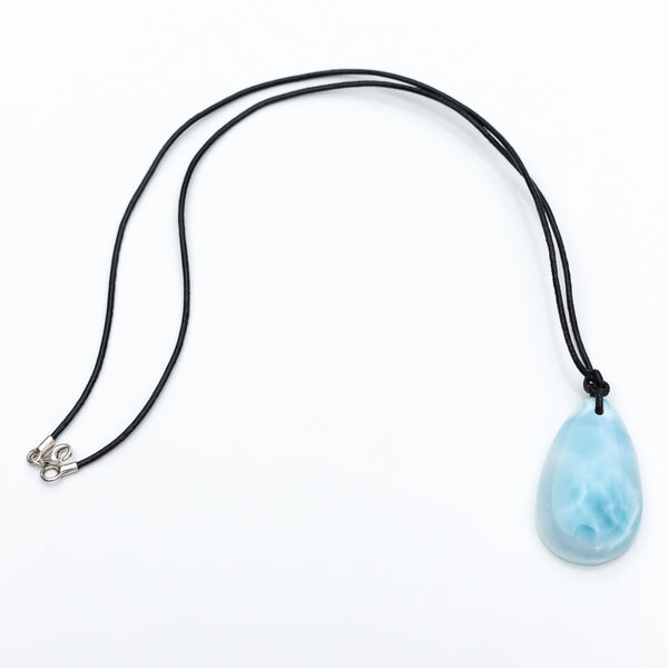 Larimar Leather Necklace, Bryce