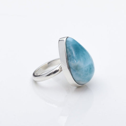 Teardrop Larimar Ring Avani