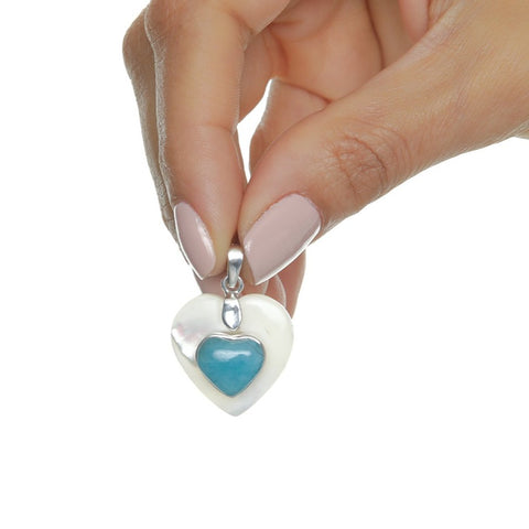Larimar Heart Pendant, Lee