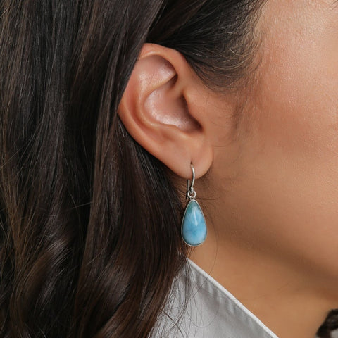 Dangle Larimar Earrings, Monike