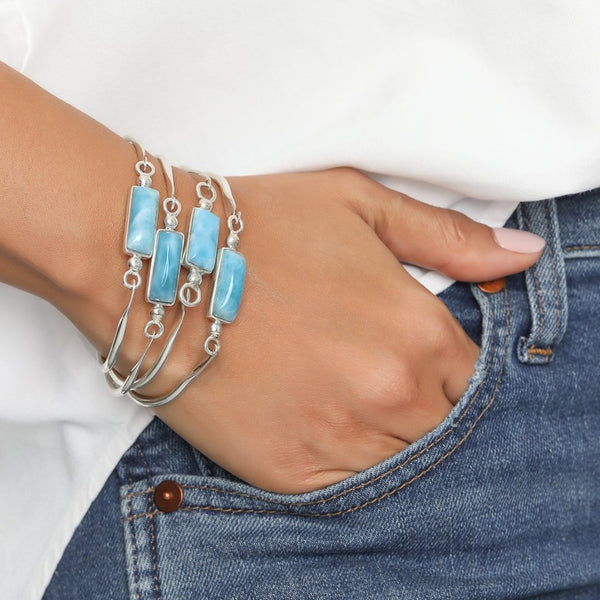 Blue Larimar Bangle, Addison