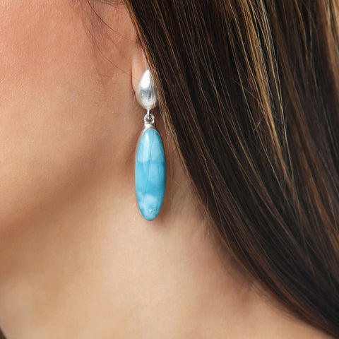 Larimar Earrings, Maia