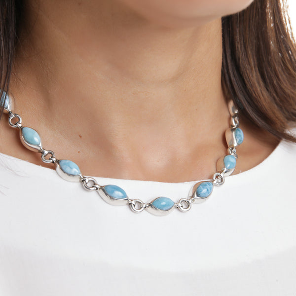 Larimar Necklace, Basie