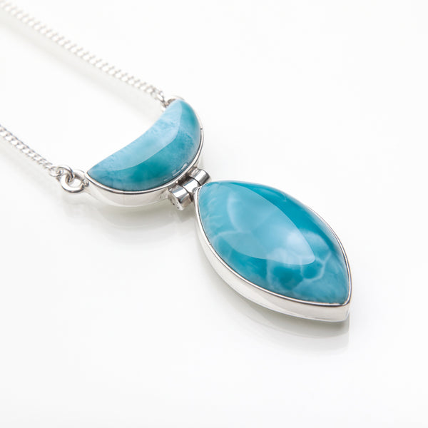 Larimar Necklace Blue Sonata