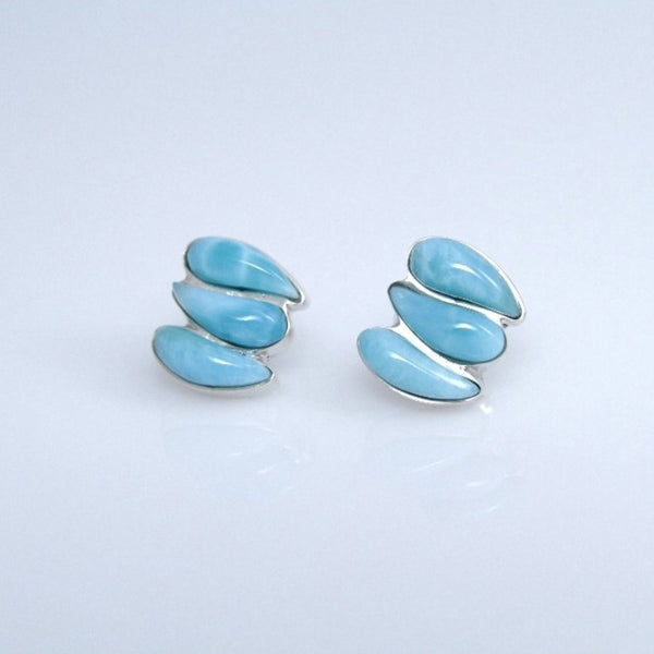 Larimar Studs Earrings, UVILLA Collection