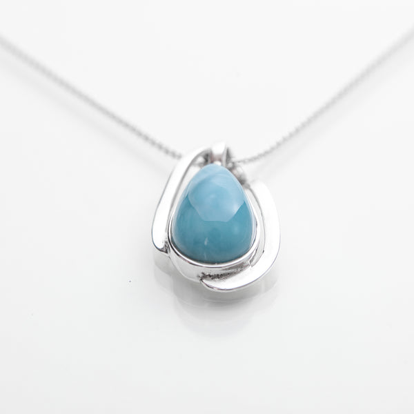Larimar Pendant Swirling Around