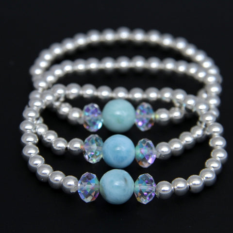 Mix and Match Larimar Bracelet Sparkle