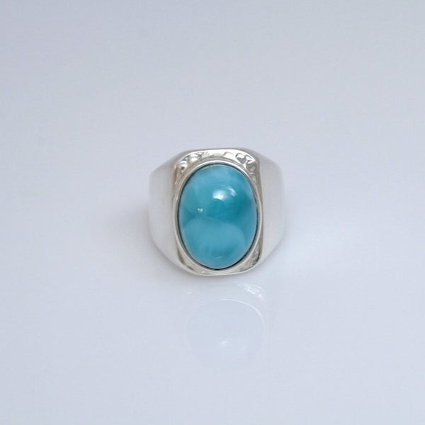 Larimar Ring for Men, Supreme Seus | Punta Cana Larimar Jewelry