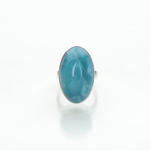 Blue Oval Larimar Ring, Colao