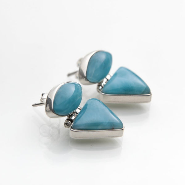 Caribbean Larimar Stone Earrings