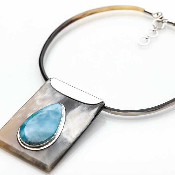 Larimar necklace Taino