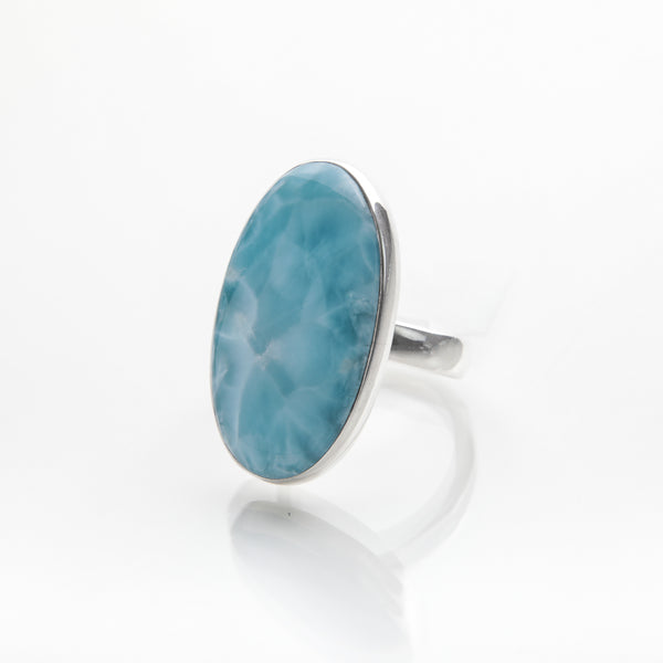 Oval Larimar Ring, Cate