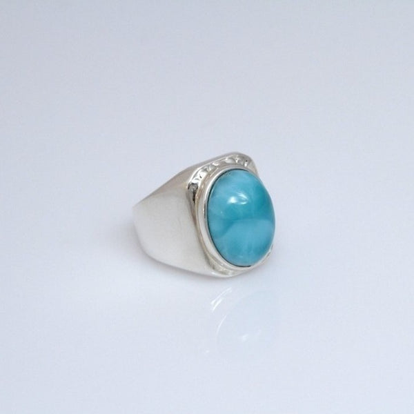 Larimar Ring for Men, Supreme Seus