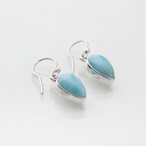 larimar sterling product oval shaped earrings silver