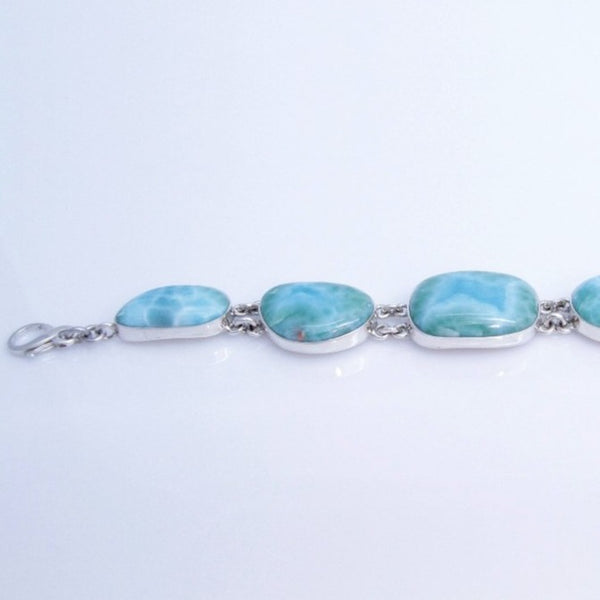 Larimar Jewelry Set, Necklace, Bracelet and Earrings