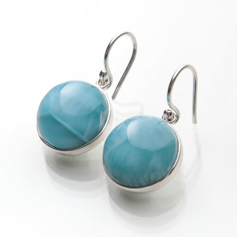 dangle Larimar earrings