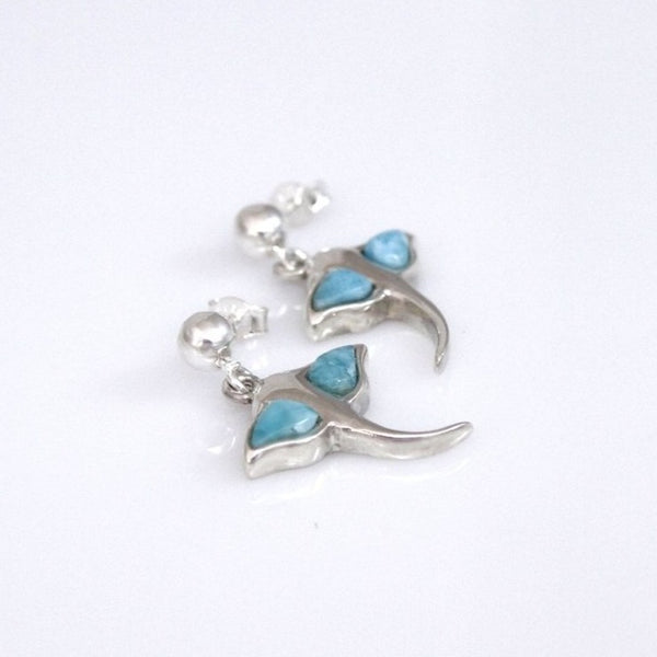 Stingray Larimar Earrings