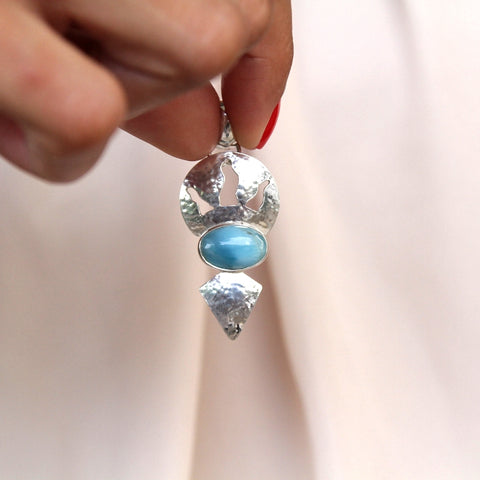 Larimar Pendant, Earth