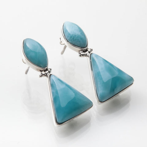 Blue Larimar earrings