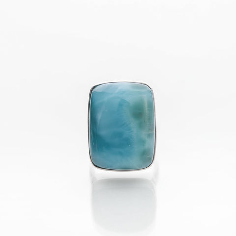 Square Larimar Ring