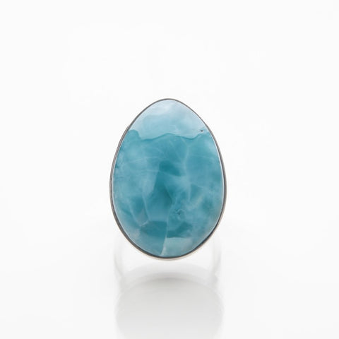 Deep Blue Larimar Ring