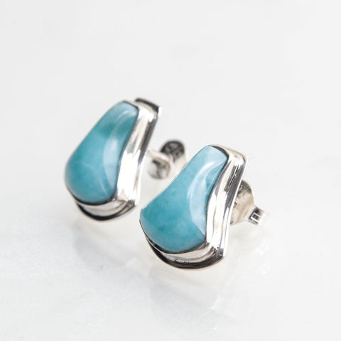 Larimar Stud Earrings, Gloria