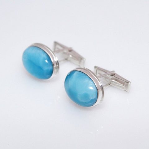 larimar cufflinks for men