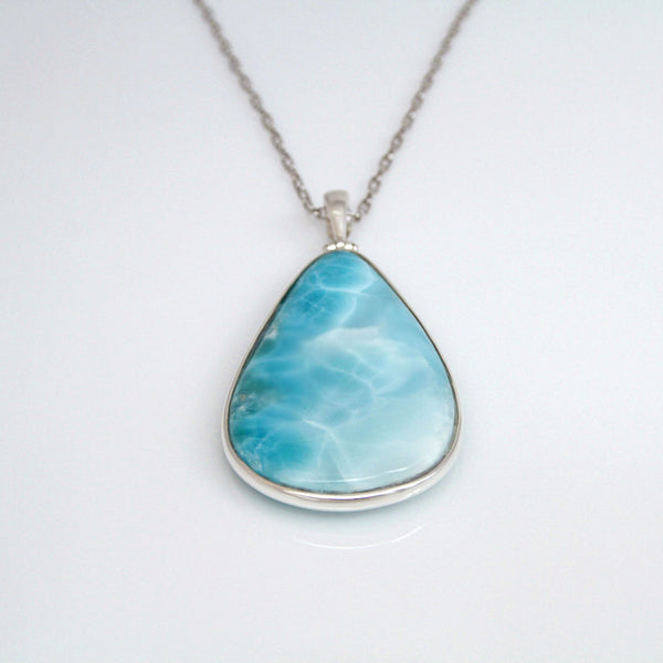 Larimar Pendant, Bright Waters