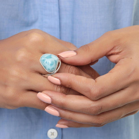 Larimar Ring Laberinto