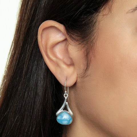 Larimar earrings, Isabela