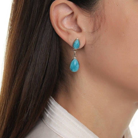 Larimar earrings Claudia