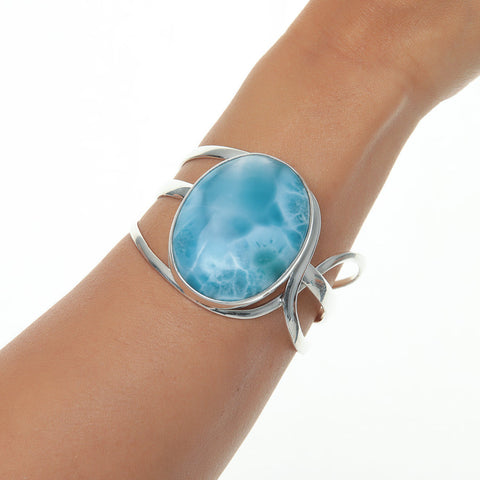 Larimar bracelet, Blue Sunset