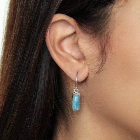 Larimar earrings, Didi
