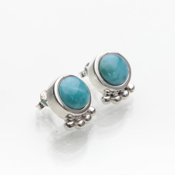 Larimar Stud Earrings, Marea