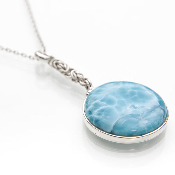 Larimar pendant lu larimar stone jewelry by the larimar shop larimar pendant lu aloadofball Image collections