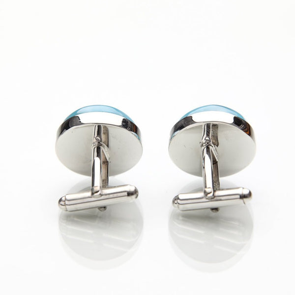 Larimar Cufflinks, JC