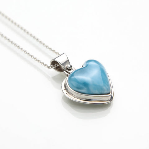 Larimar Heart Pendant, 4Ever