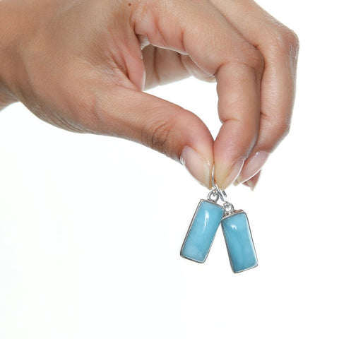 Larimar Earrings, Mawde