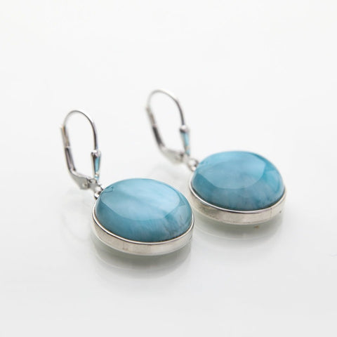 Larimar earrings, Keke