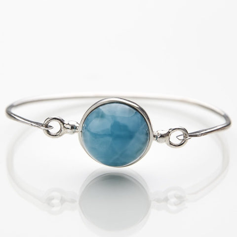 Blue Larimar Bangle, Lucy