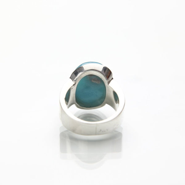 Oval Larimar Ring, Kira