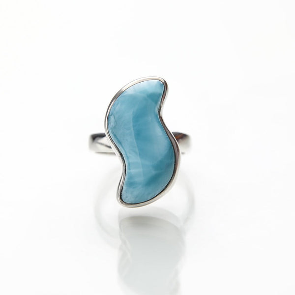 Freeform Larimar Ring, Louise