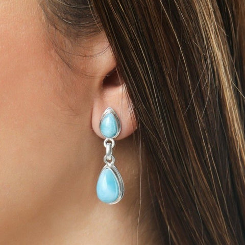 Larimar earrings, Tove
