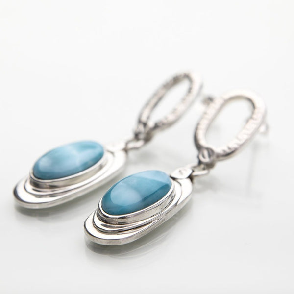 Larimar earrings, Irene