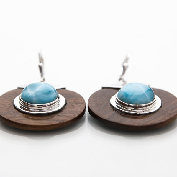 Larimar earrings, Thea