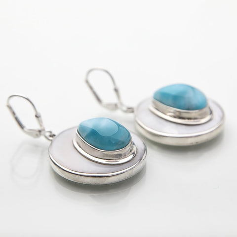 Larimar earrings, Sierra