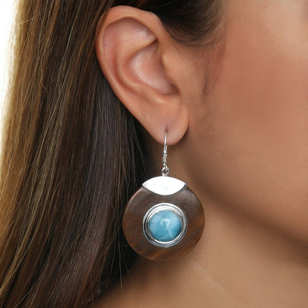Larimar earrings, Vale
