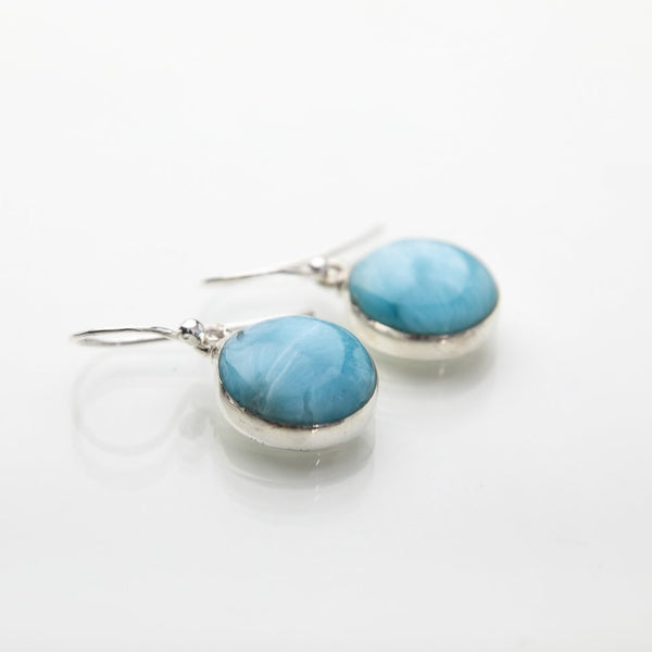 Larimar earrings, Jay